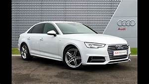 RA66XNG AUDI A4 TDI S LINE WHITE 2017, Slough Audi - YouTube
