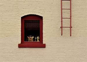 Images Gratuites Bois Maison Fentre Mur Rouge
