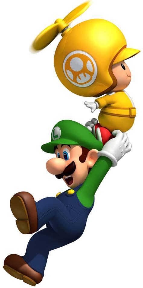New Super Mario Bros Wii Yellow Toad And Luigi Mario