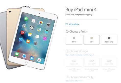 ipad mini  uk price  delivery details product