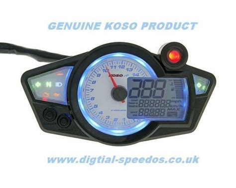 Digital Speedometer Speedo Dash Gauge Rpm Lights