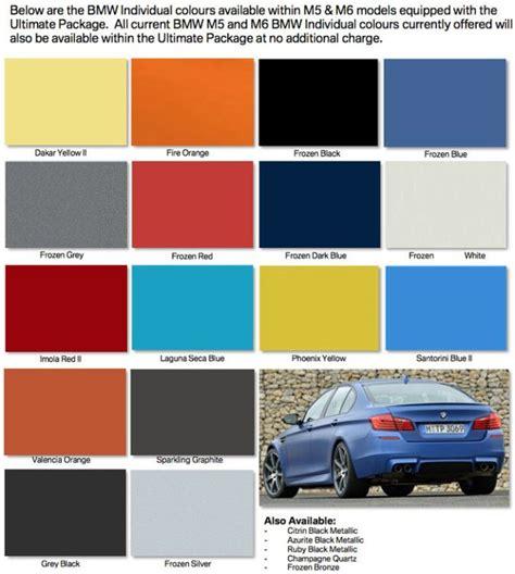 Bmw M5 Colors by Bmw M5 M6 Individual Colors Bmws Bmw Bmw M5 Colorful