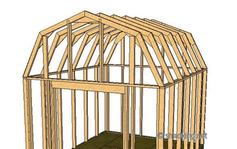 shed roof gambrel   build  shed shed roof