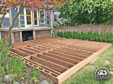 ground level deck framing ground level decks