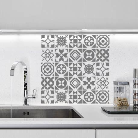 sticker pour carrelage cuisine planche de stickers carreaux de ciment optimistick