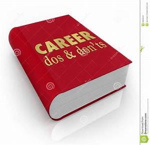 Career Dos Donts Book Manual Job Advice Royalty Free Stock