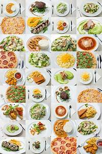 Collage Of Variety Food On Plate Stock Photo - Download Image Now - iStock