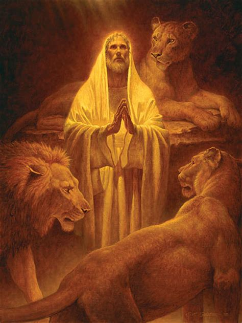 Image result for THE ANGEL PROTECTS DANIEL IN THE LION'S DEN