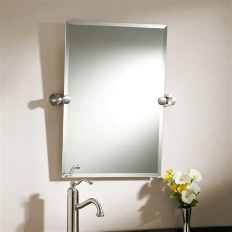 tilting bathroom mirror set 24 quot prague rectangular tilting mirror modern bathroom mirrors