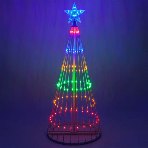 multicolor led animated outdoor lightshow tree