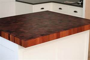 Mahogany Butcher Block Countertops in Newton, Massachusetts