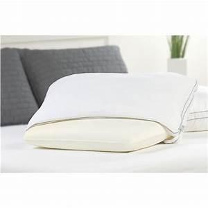 Fresh foam comfort revolution memory foam core bed pillow for Foam bed pillows