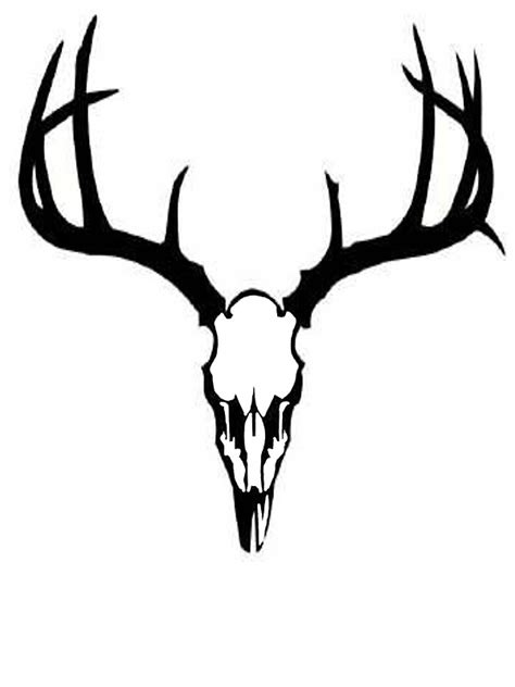 quot deer skull quot stickers by gunnbranch redbubble