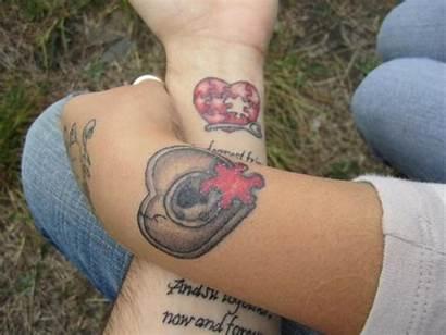 Tattoos Tattoo Matching Heart Wrist Couple Fantastic