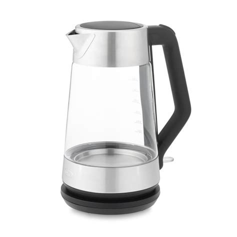 OXO On Clarity Cordless Glass Electric Kettle   Williams