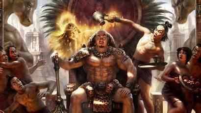 Funny Aztec Warriors Backiee Landscape