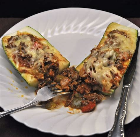 Taco Courgette Boats by Stuffed Zucchini Taco Style Thyme For Cooking Blog