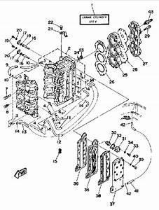 1988 Yamaha Crankcase Cylinder Parts For 70 Hp 70etlg