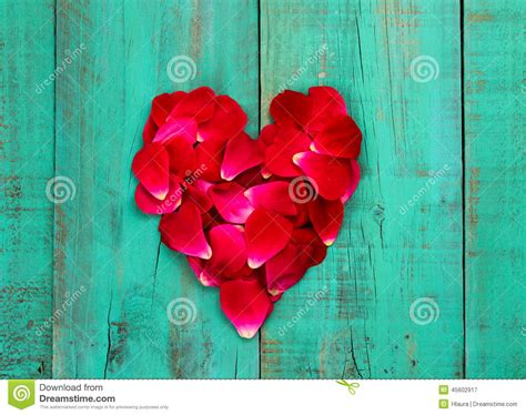 red rose petals   shape  heart  distressed