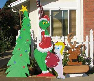 Grinch Wood Yard Art Patterns WoodWorking Projects & Plans