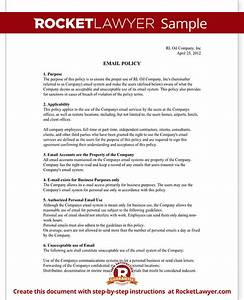 Company email policy template with sample for Company email policy template