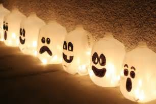 Homemade Halloween Luminary Bags by Milk Jug Halloween Decorations Lighted Plastic Christmas