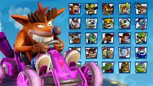 All Characters Skins & Kart Customizations in Crash Team ...