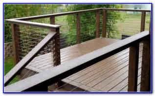 modern wire deck railing decks home decorating ideas