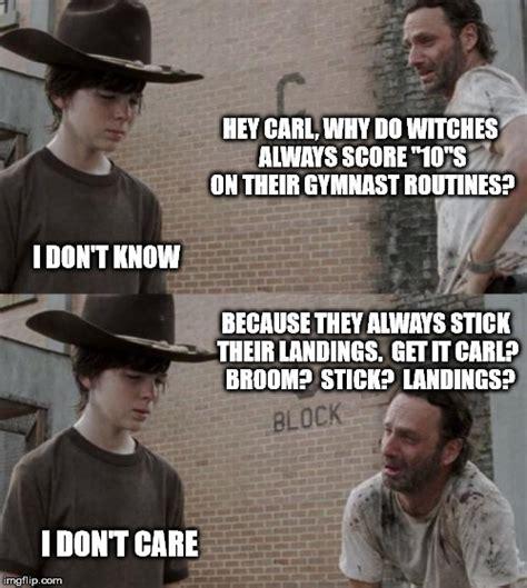 Broom Meme - rick on broom sticks imgflip