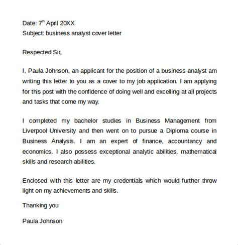 financial analyst cover letter intenr 20 cover letter templates sle templates