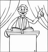 Pastor Preacher Coloring Template sketch template