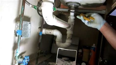 how to install pvc pipe under kitchen sink kitchen sink drain pipe replaced plumbing tips youtube