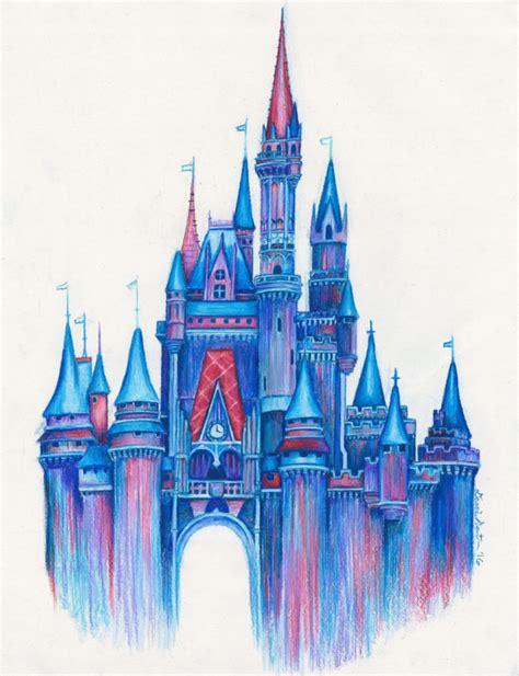 Magic in the Air/Disney Castle Art Print/Colorful Disney