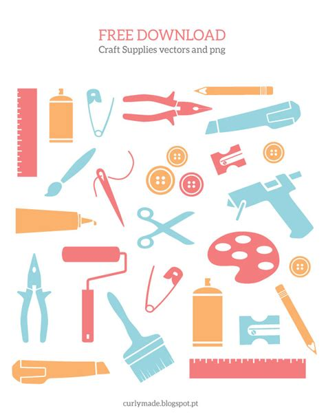 Curly Made Free Download  Craft Supplies Vectors And Png