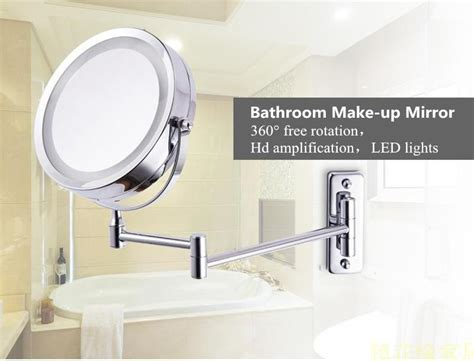 Extending Bathroom Mirrors by Newest 7 Inch Dual Arm Extend Bathroom Mirror With Battery