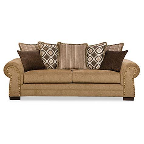 simmons sofas at big lots simmons lorenzo teak scatter back sofa big lots