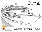 Cruise Ship Coloring Pages Printable Oasis Seas Template Sketch Yescoloring Drawings Sheets Cruises Liner Boys Celebrity Viking Spectacular Printables Templates sketch template