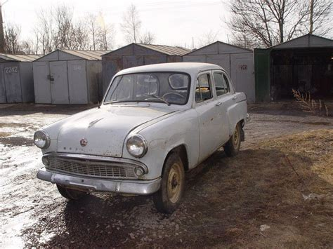 russian moskvitch restored  years  storage