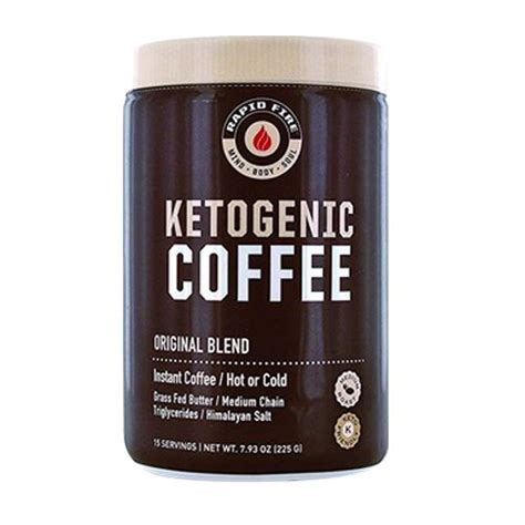 Each ingredient has been carefully selected and with you in mind. Rapid Fire Ketogenic Coffee Instant Coffee Mix, Original Blend, 7.9 Oz - Walmart.com - Walmart.com