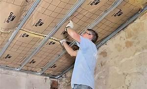 Isolation thermique d'un plafond sous rampant