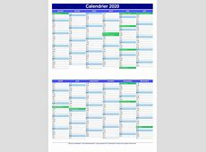 Calendrier 2020 2019 2018 Calendar Printable with