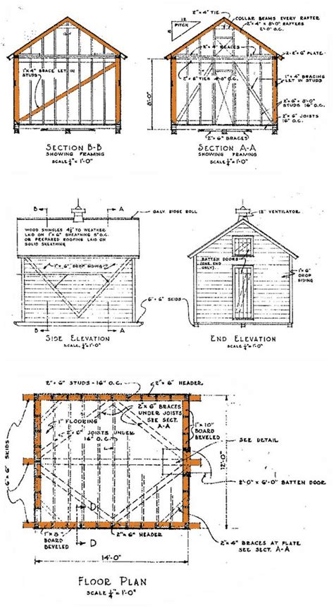 Free 10x12 Shed Plans Gable Roof by Dan Ini Free 10 X12 Shed Plans 24x24 Granite