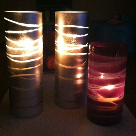 Rubber Band Candle Holders Use Glasses From Dollar Store Rubber Bands And Spray Paint To Make Beautiful Candle Holders by 17 Best Images About Cool Things To Do On