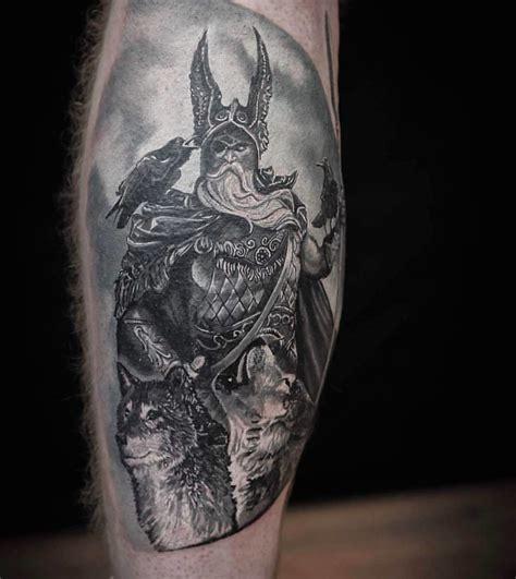 viking warrior tattoo wolf tattoo crow tattoo  cosmi