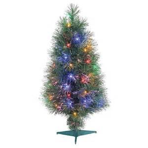 3 ft pre lit led fiber optic tree mu target