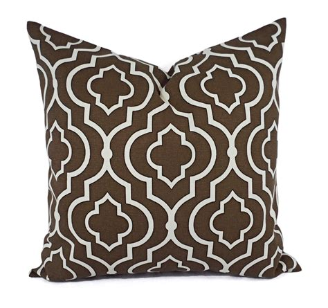 Two Decorative Pillow Covers Brown Cream Pillows Throw
