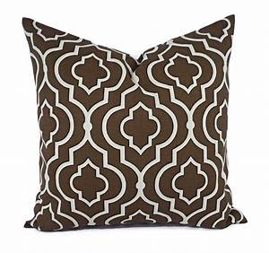 two decorative pillow covers brown cream pillows throw With black and brown decorative pillows