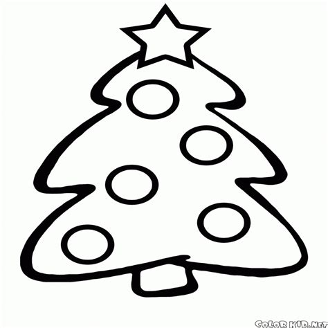 Disegni Da Colorare – Albero Di Natale Per I Bambini