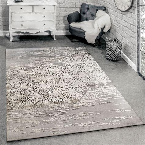 designer teppich meliert grau beige teppichde