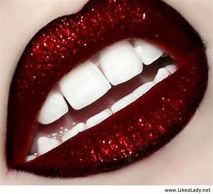 Glitter red lips | My Favourite Things | Pinterest